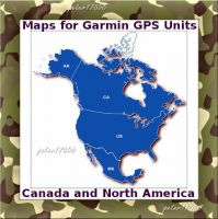North America Canada and Border States Map for Garmin Devices on MICRO SD CARD